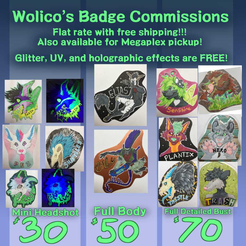 Most recent image: OPEN FOR BADGE COMMISSIONS