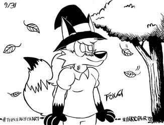 Inktober '18: Halloween Vixen