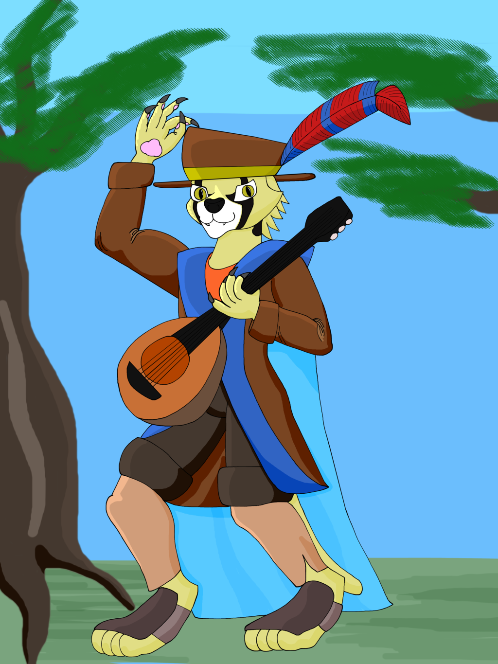 Most recent image: Tabaxi bard