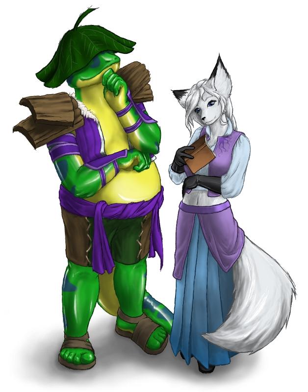 Salamander and Fox