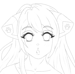 Lia pencil bust sketch