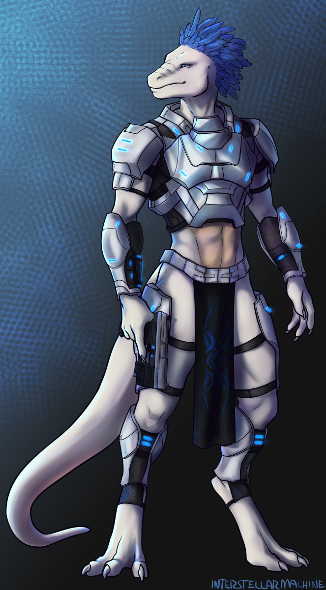 Featured image: Scifi rawr (front)