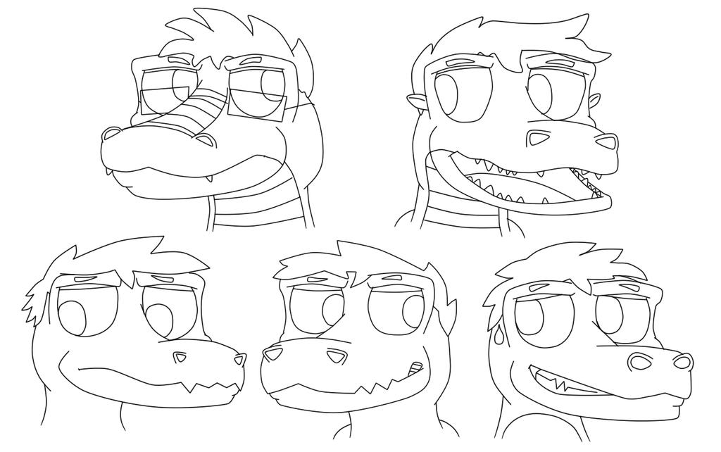 Most recent image: Buncha head sketches