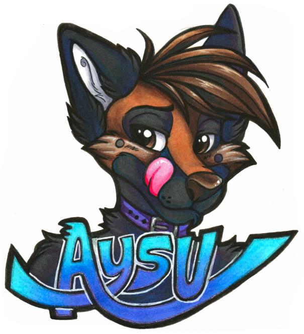 Aysu Badge (Anthrocon 2016)