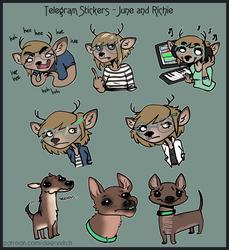 Personal Telegram Stickers - June & Richie