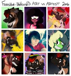 FoxesHunt-TheHounds Art vs. Artist meme