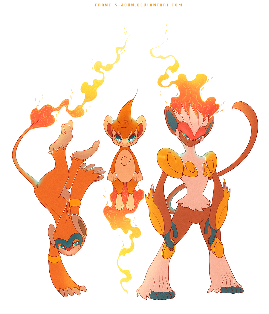 Monferno Chimchar and Infernape