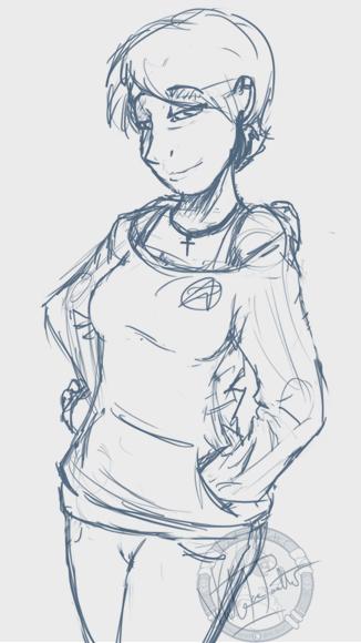 Human Girl Sketch 2