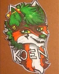 Koen's badge.