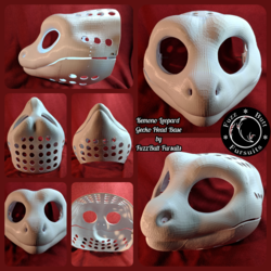 Kemono Leopard Gecko Head Base