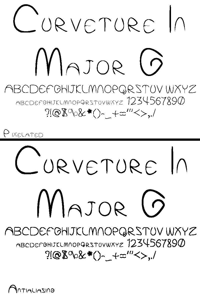 Curveture in Major G - Font