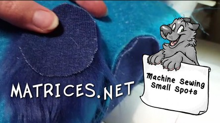 Video Tutorial! Machine Sewing Small Spots in Faux Fur