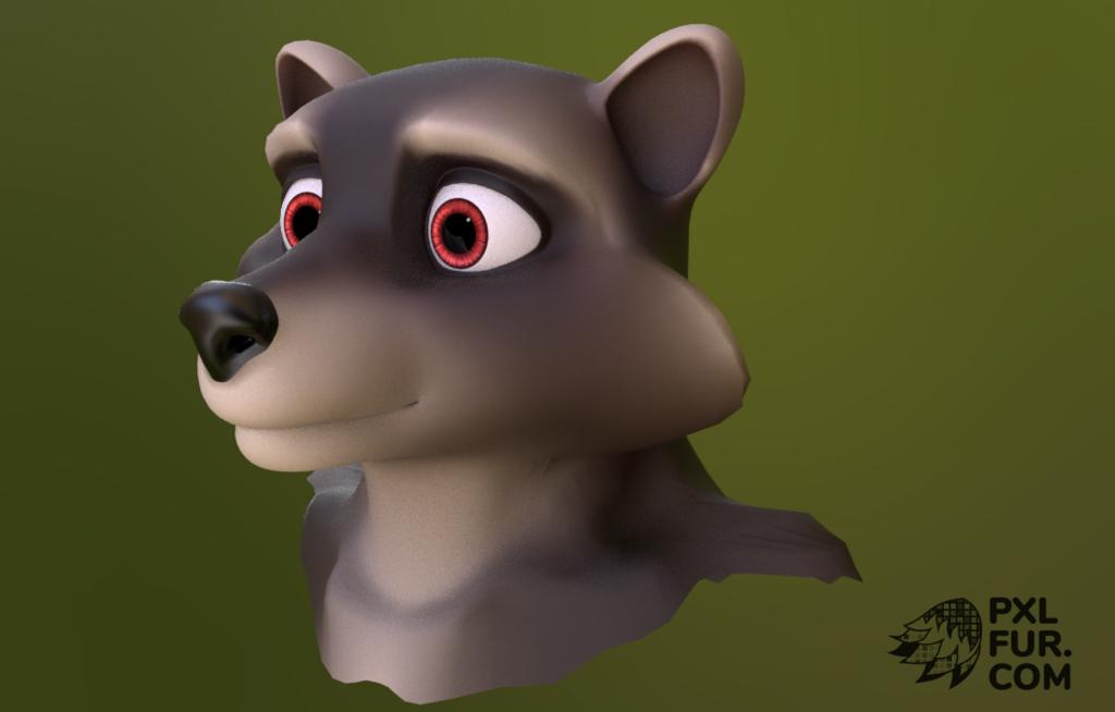 Raccoon test render
