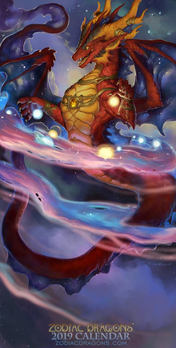 2019 Zodiac Dragons Calendar Ophiuchus