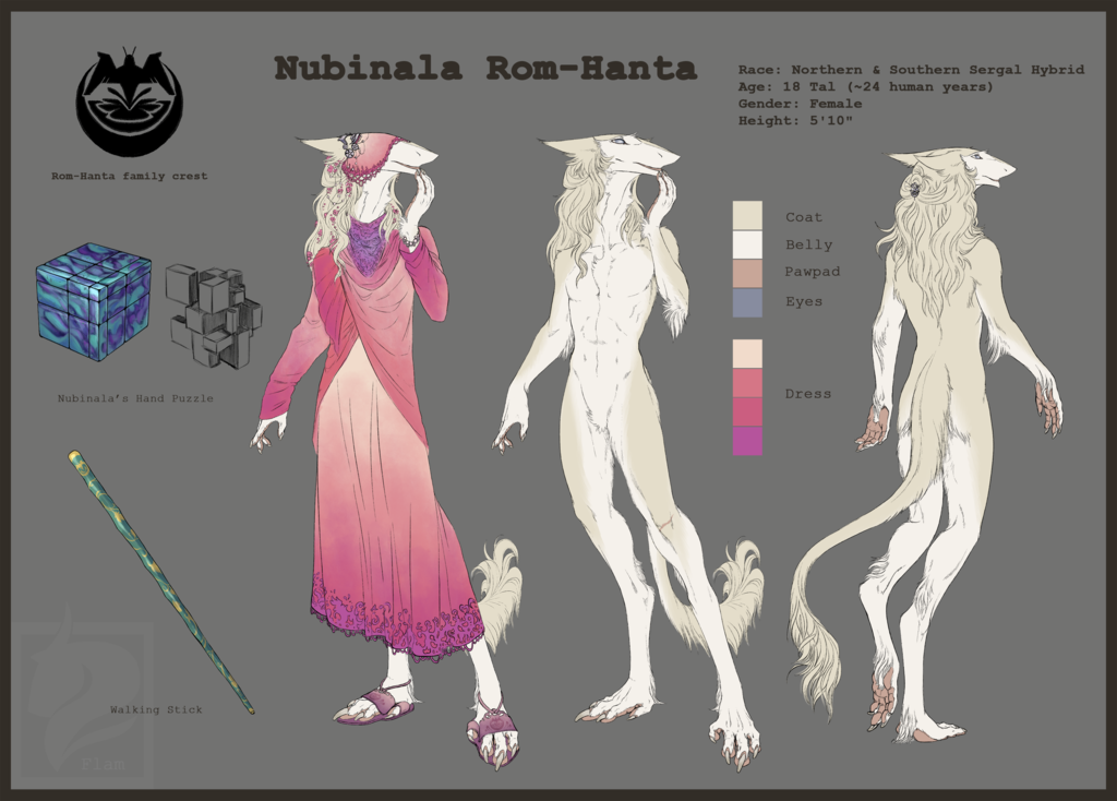 Nubinala Reference Sheet