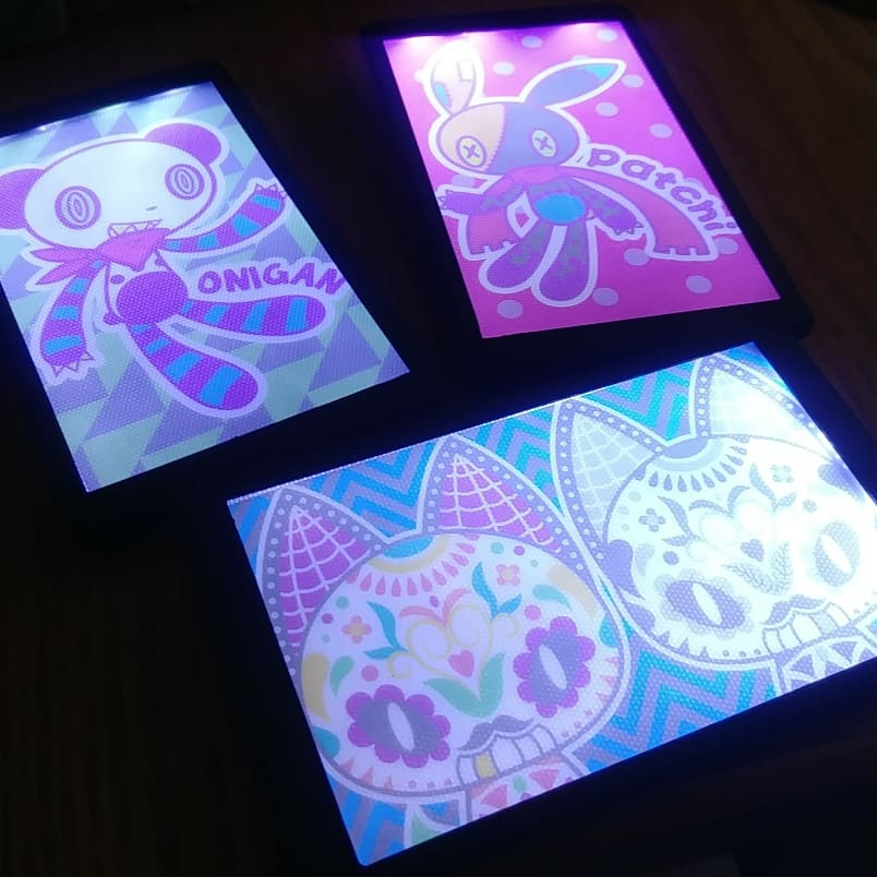 Most recent image: Full color light-up badges!