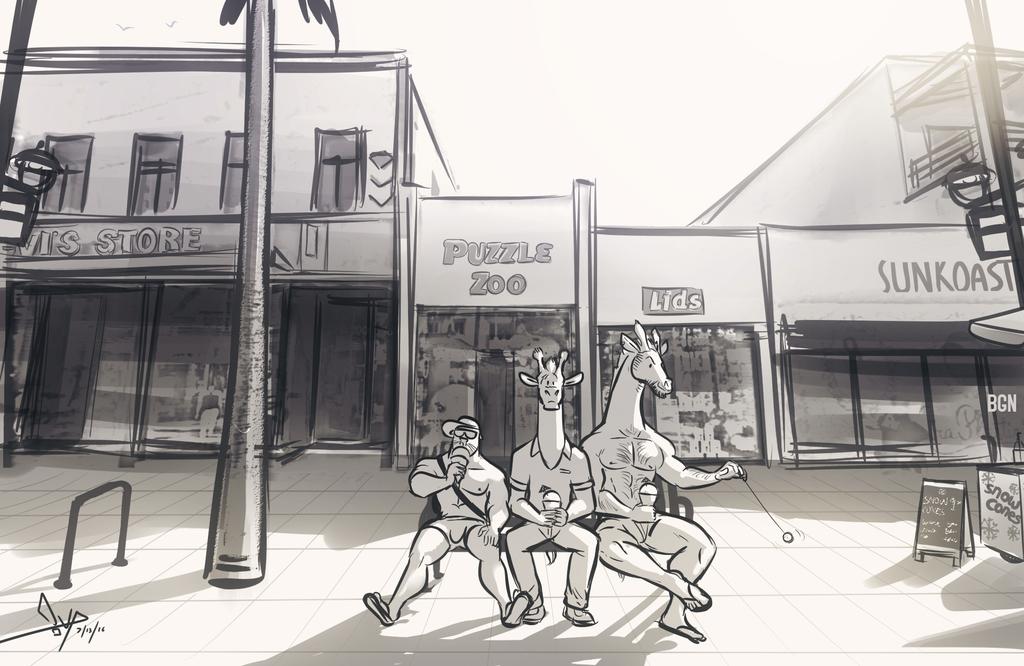 Cruisin' Downtown Santa Monica (James, Logan, and Mendo)