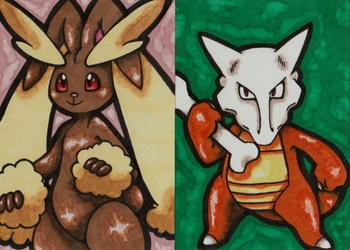 Lopunny and Marowak