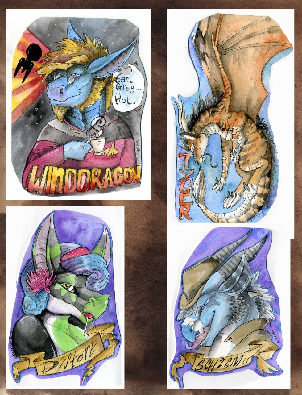 AnthroCon 2013 Badges