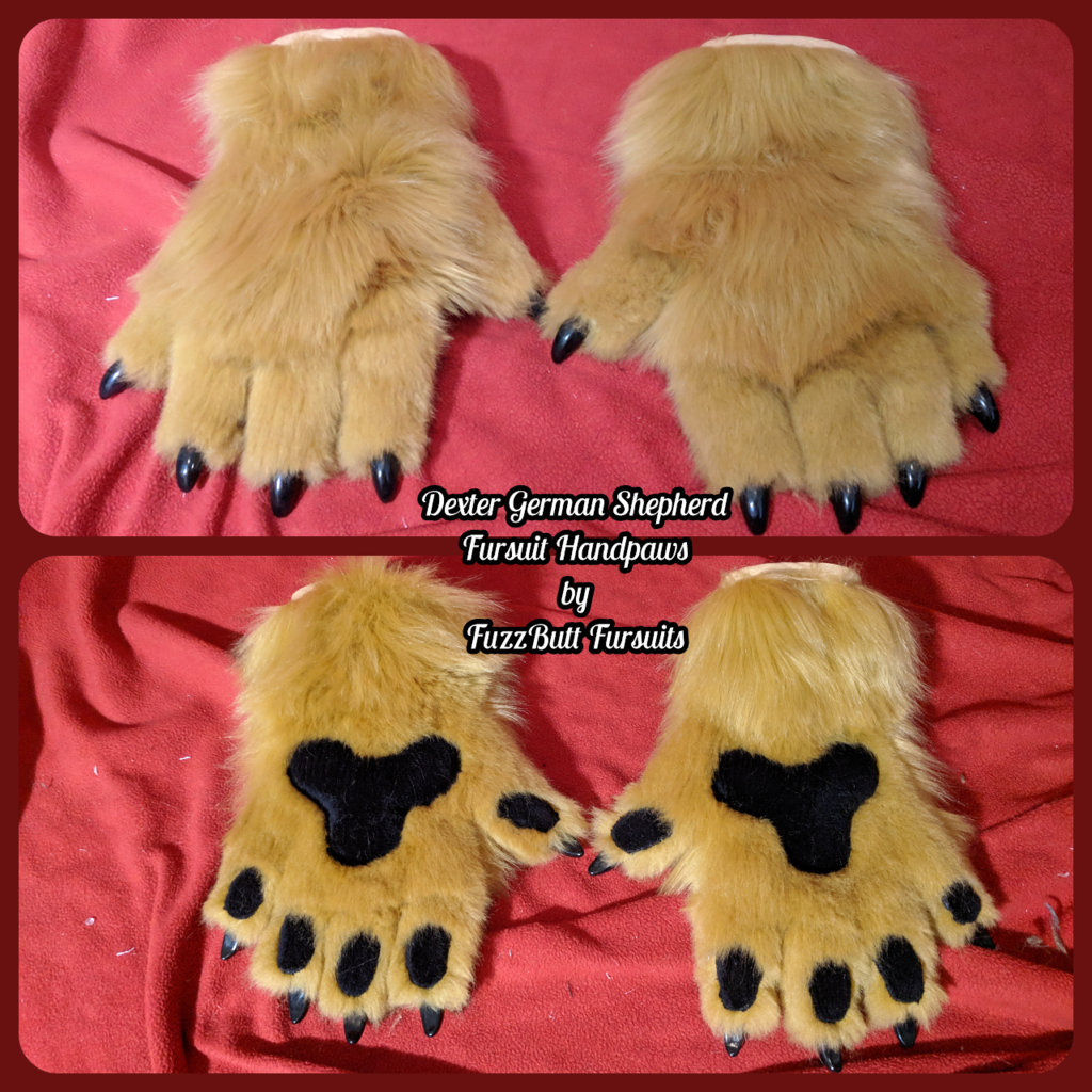 Dexter German Shepherd Fursuit Handpaws