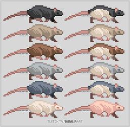 Pixel Rats: Natural Colors