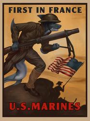 Shark Marine WW1 Poster [C]
