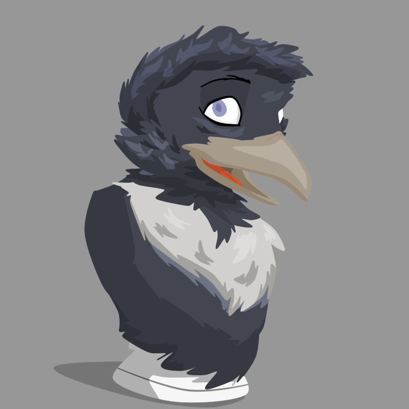 Comm - Magpie Bust