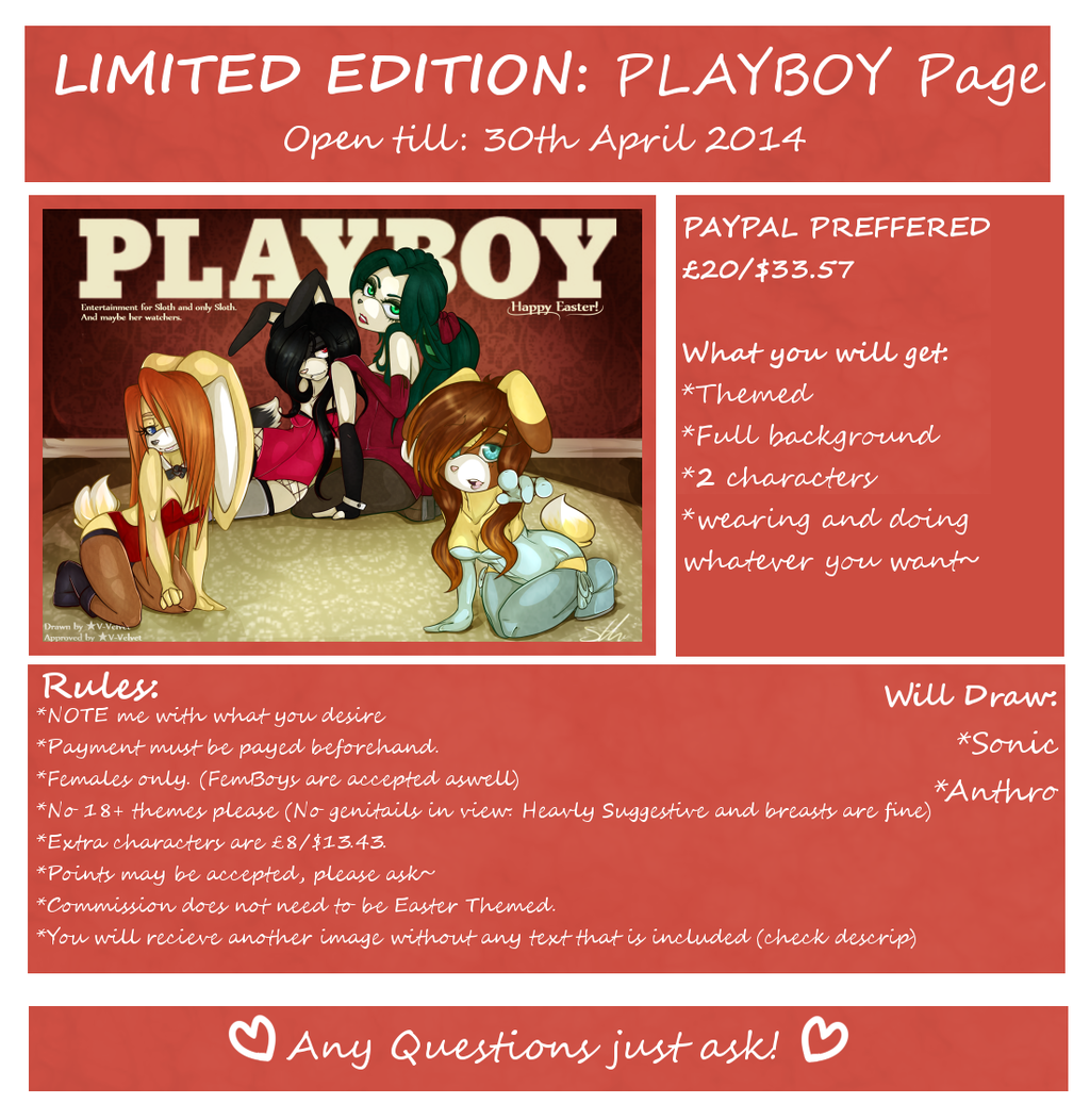"""LIMITED EDITION: """"PLAYBOY Page"""""""