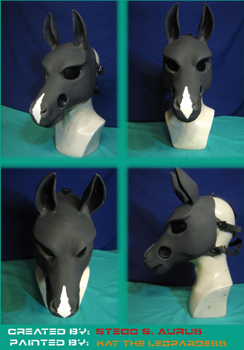 Painted Gas Mask: Diamond Equine Design