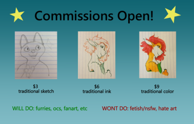 Sketch Commissions OPEN!
