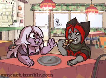 Amethyst and Bloodstone