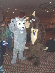 Wolfus and TJ  Coyote