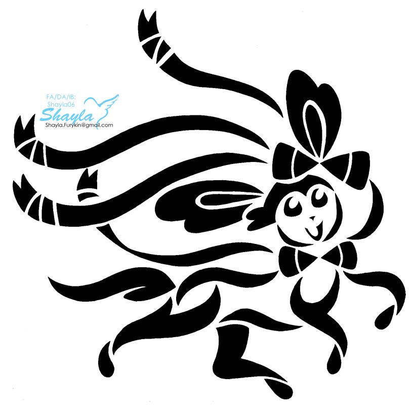 Sylveon Tribal BW [For Sale] — Weasyl  Sylveon Tribal ...