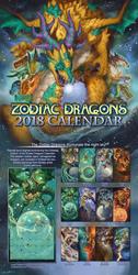 2018 The Zodiac Dragons Calendar Celestial Edition
