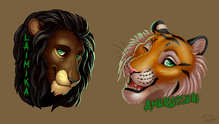 Badges for Amurussui and Laimika