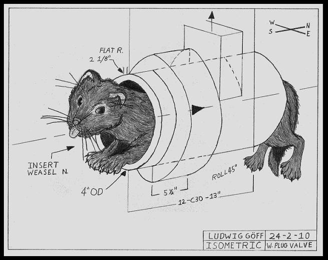 The 'weasel' Plug Valve
