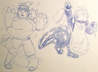 Bubble Dragon doodles