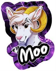 Badge: Moo