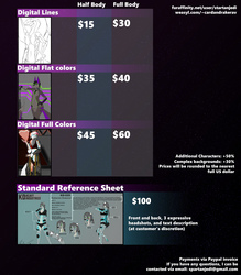 Commission Price Sheet for 2018