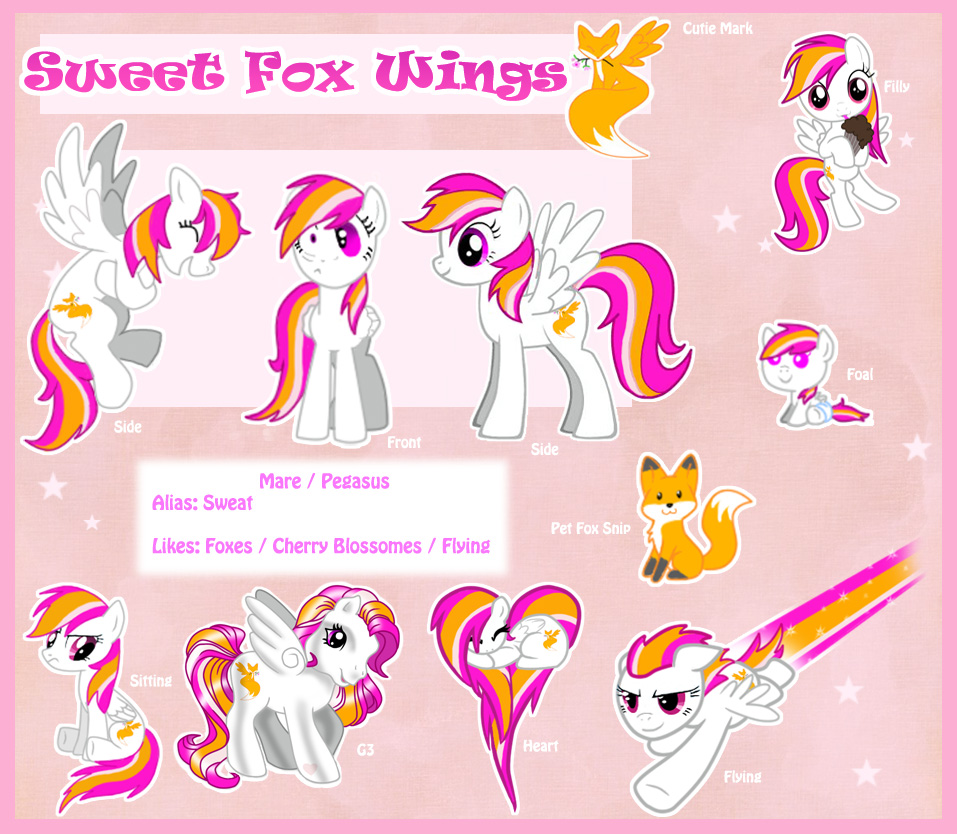 Most recent image: Sweet Fox Wings Ref Sheet