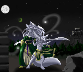 Luna and Dias in the Night
