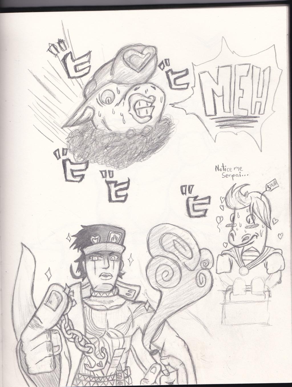 "Most recent image: Tsugi ni omae wa ""Just random stuff"" toiu"