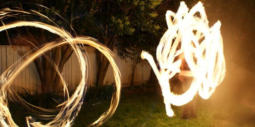 Fire Poi gone wild