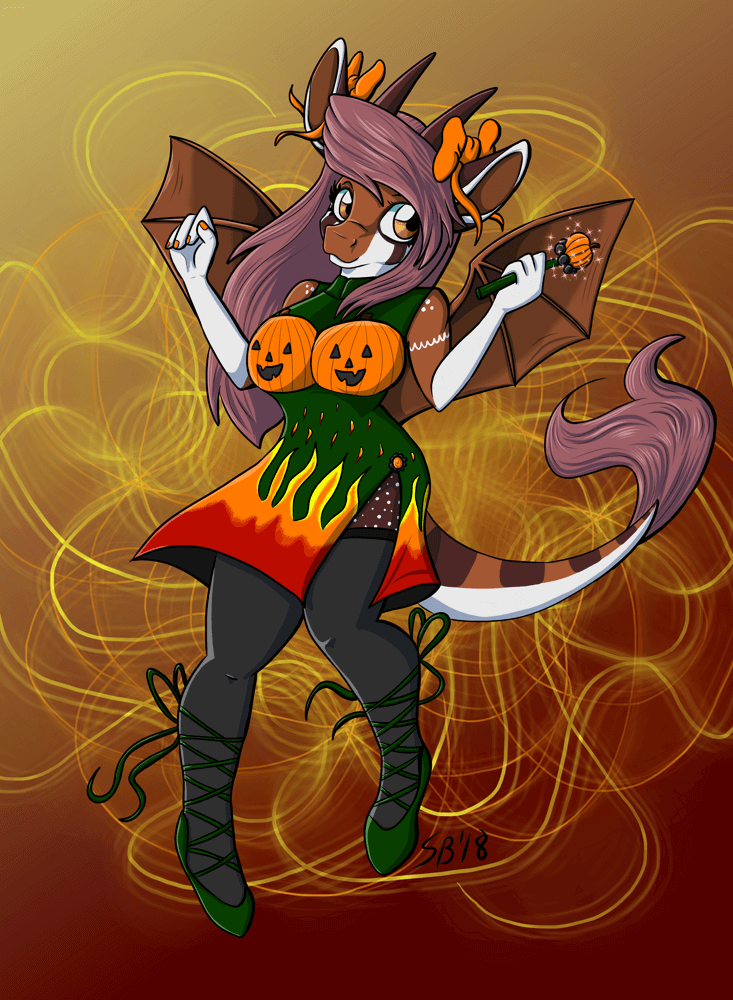 Spooky Sorceress Magical Girl Marmelle