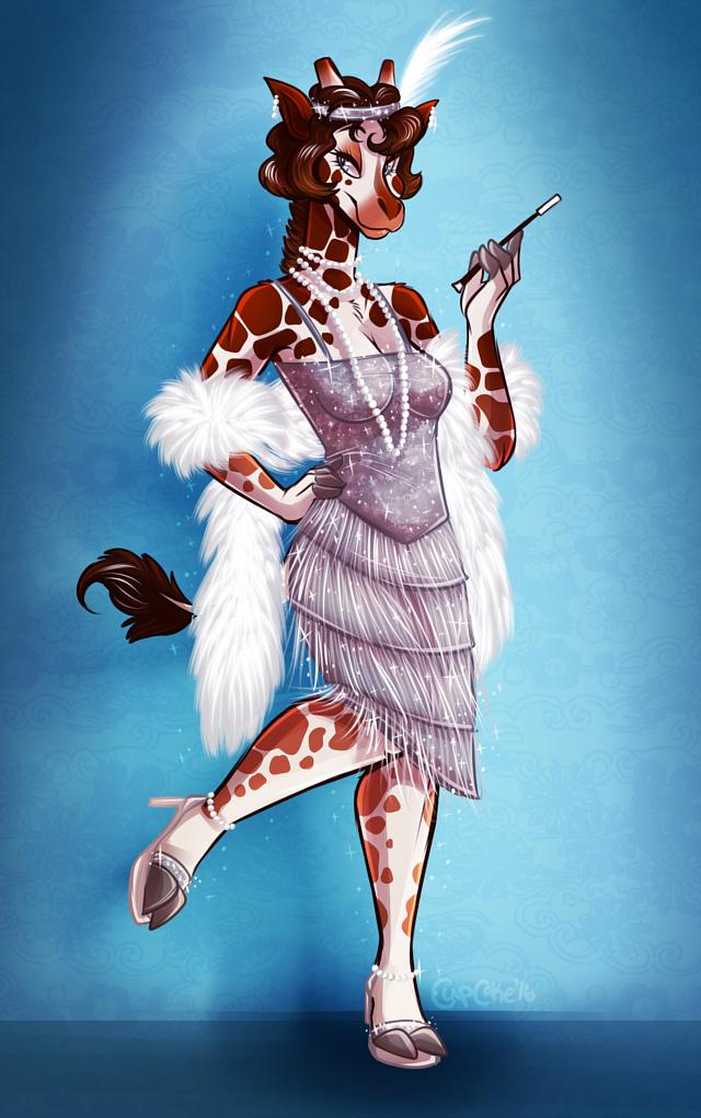 April Patreon Poll Image: Flapper Giraffe