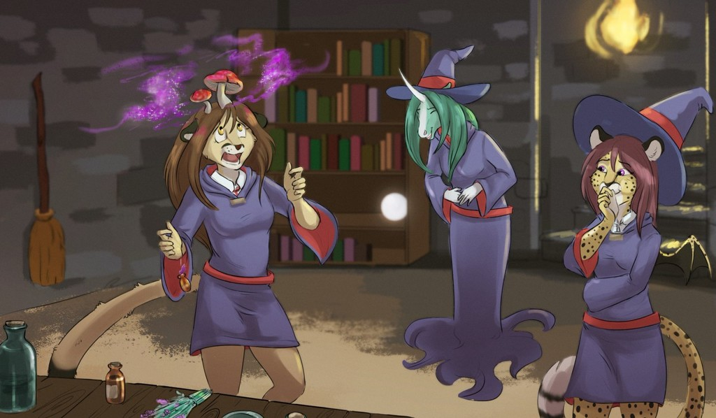 Most recent image: Prrfin' Little Witch Potions