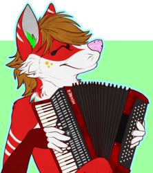 Keys Playing Accordion