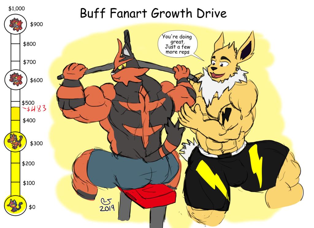 Buff Fanart Growth Drive: Incineroar 4 Update11/08