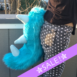 SALE! Spiked Turquoise Fursuit Tail