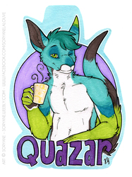 Quazar - Wait-Up Badge